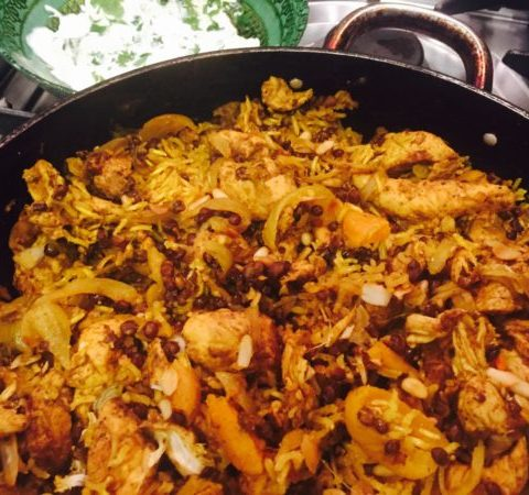One-pot spicy chicken