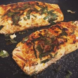 Cajun Salmon with crispy sage