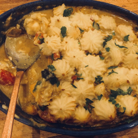 Curry Fish Pie